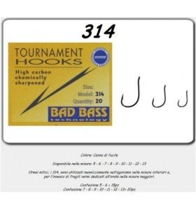 bad bass serie 314 Fishing Hooks