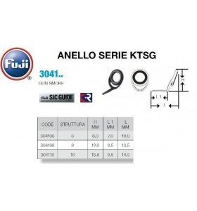 Fuji Rod Components Anelli serie KTSG GUN SMOKE