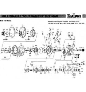 Daiwa 7HT MAG REELS PART NO. 51