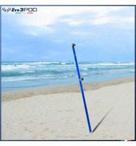 Evo3POD - Picchetto Alluminio Blu Anodizzato 150 cm Fluò