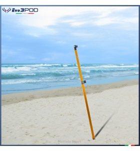 Evo3POD - Picchetto Alluminio Orange Anodizzato 150 cm Fluò