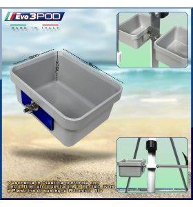 Evo3POD - Vaschetta Plastica Profonda Nera
